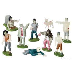 glow in the dark zombie playset