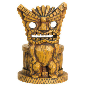 tiki votive candle holder
